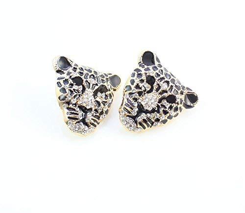 Chapado en oro africano disfraz Leopard Jewelry–Collar de cristal de accesorios Set