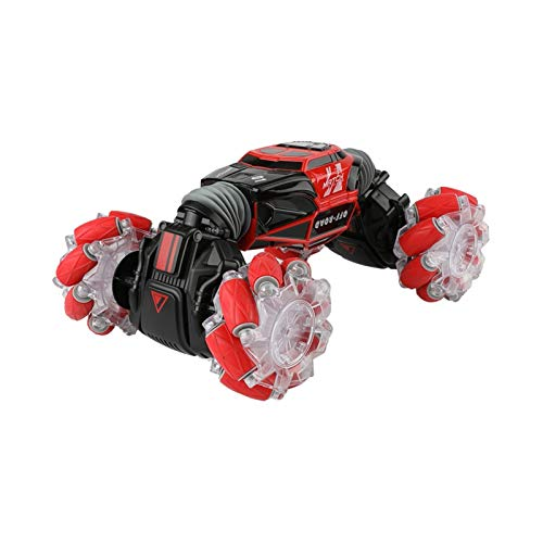 jieGorge Education Toy, Remote Control Off-Road Gesture Sensing 4WD 1:16 Sided Flip Stunt Car Gift, Toys and Hobbies (Red)