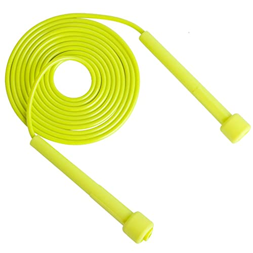 LIUCHEN saltar la cuerdaCuerda para saltar de velocidad profesional para hombres y mujeres, gimnasio, cuerda para saltar de PVC, equipo de fitness ajustable, entrenamiento muscular,amarillo