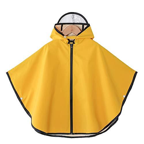 AIWUHE Unisex Regenjacke Regenmantel Kinder Regenponcho Regenbekleidung Cute Augen Regencape mit Ohren für Jungen Mädchen