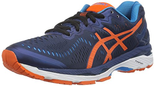 ASICS Gel-Kayano 23, Scarpe Running Uomo, Blu (Poseidon/Flame Orange/Blue Jewel), 40.5 EU