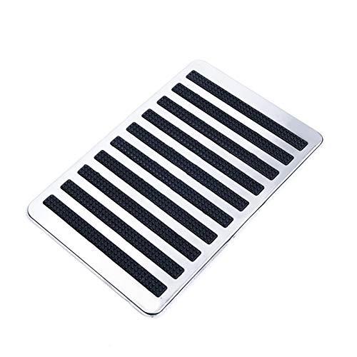 RJJX Mat Platte Teppich Pedal Anti-Rutsch-23.5X16cm Edelstahl Wasserdicht Universal-