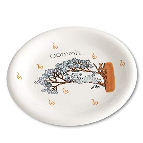 440s.de Mila Keramik-Teller, Oommh Katze Pure Relax | MI-84184 | 4045303841840