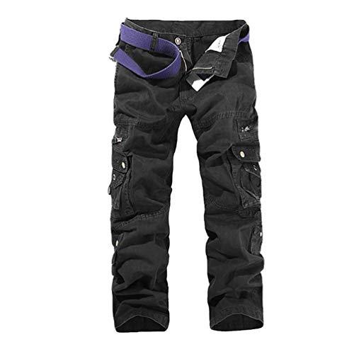 Anaisy Męskie spodnie bojówki spodnie robocze outdoorowe bojówki materiałowe spodnie na co dzień bawełna luźne festiwal spodnie bojowe spodnie turystyczne wiele kieszeni bez paska