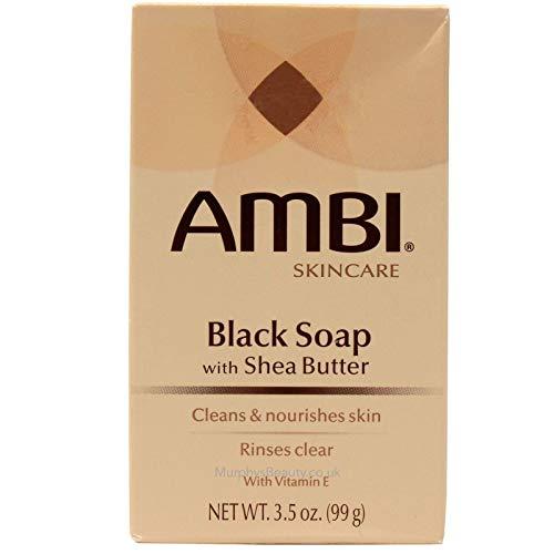 Ambi Skincare Black Soap with Shea Butter, 3.5 Oz.