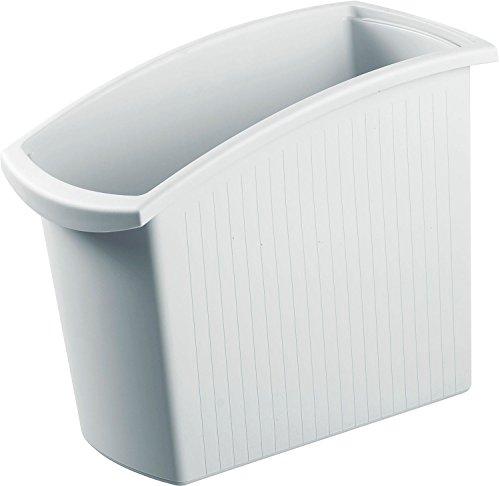 HAN Papierkorb MONDO 1840-11 in Lichtgrau / Schlanker Mülleimer mit 18 Liter Fassungsvermögen / Ideal für unter den Schreibtisch