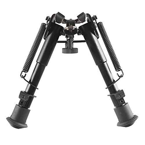 Ohuhu Hunting Bipod, Tactical Rifle Bipod, 6-9 Inches Spring Return Adjustable Bipods | Super Duty Tactical Bipod