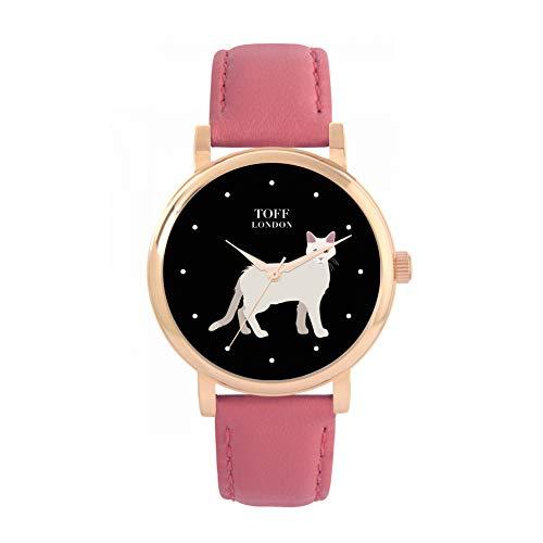 Toff London Reloj de Gato Gigante Afrodita Blanco