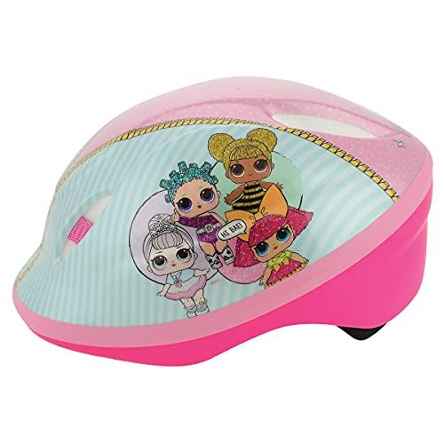 LOL Surprise Safety Helmet Casco de Seguridad, niña, Rosa, 48-54cm