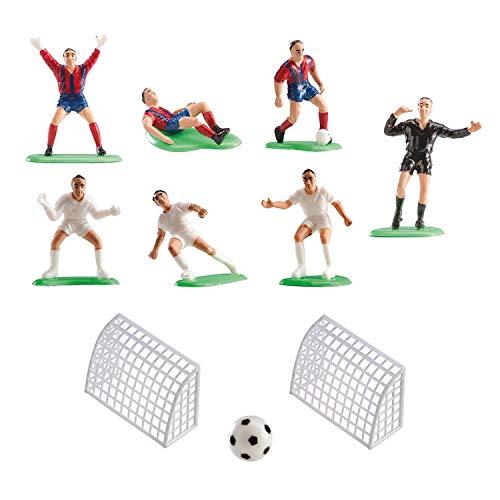 Dekora - Decoracion para Tartas de Cumpleaños con Figuras de Futbol