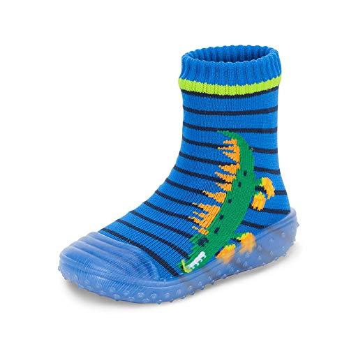 Sterntaler Baby - Jungen Adventure-Socks, Socke mit Gummisohle, Wasserschuh, Größe: 21/22, Blau