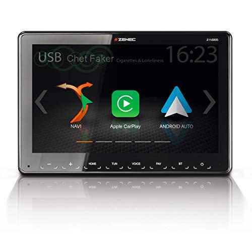 """ZENEC Z-N965: 1-Din Autoradio, Multimediasystem mit 9""""/22,9 cm Touchscreen, Mediencenter mit DAB+, Apple CarPlay, Android Auto, zum Navi für PKWs oder Reisemobile erweiterbar"""