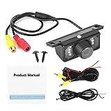 Telecamera di Retromarcia per Retrovisione Auto LED Visione Notturna Impermeabile Ad Alta Definizione Fotocamera, 12V
