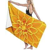 Albornoz de natación de Toallas de Playa de Flores Amarillas de Secado rápido para Mujeres, niños, Adolescentes, Adultos