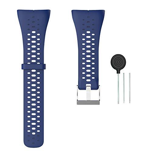 WEINISITE Armband für Polar M400, Silikon Ersatzband für Polar M400 GPS Running Watch (Blau)