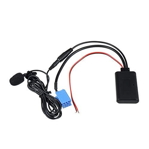 ZHANGHONGWEI Ricevitore AUX Bluetooth per Audi Chorus Concert Fit for Blaupunkt Fit per VW Delta Beta Fit per Adattatore per Cavo VDO Becker con Microfono