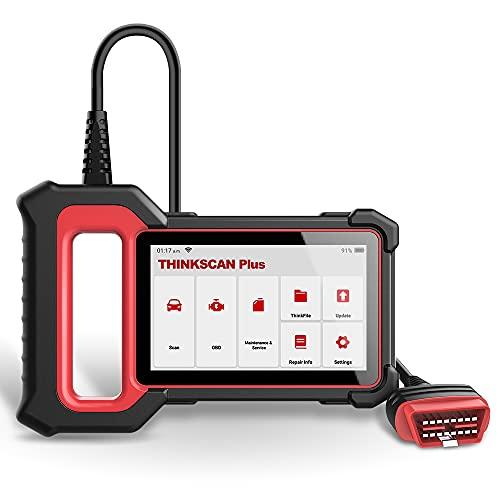 thinkcar OBD2 Scanner Thinkscan Plus S6, ABS SRS ECM TCM 4 Lettore di Codici diagnostici di Sistema, Strumento di scansione diagnostica con Oil/EPB/SAS/TPMS/ETS 5 Servizi di ripristino