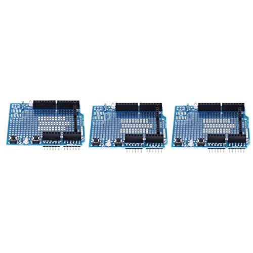 Zwei LEDs Kompatibilität Prototyp Shield Board Zuverlässig Gute elektrische Leitfähigkeit ProtoShield Elektronische Komponenten mit geringem Widerstand für Arduino