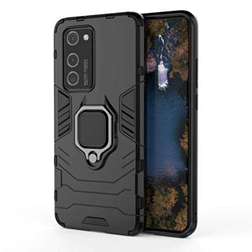 Grand Eletronics for Huawei P40 Pro Case,Hybrid Heavy Duty Shockproof Armor Dual Layer Protection Defender Back Case Cover for Huawei P40 Pro (Black)