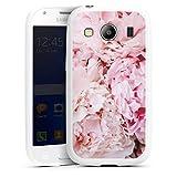 DeinDesign Silikon Hülle kompatibel mit Samsung Galaxy Ace 4 Hülle weiß Handyhülle Girl Style Blumen Natur