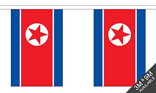 Korea Noord Bunting (30 vlaggen) 9m