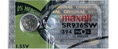 One (1) x Maxell 394 SR936SW Sb-a4 batterie de montre oxyde d'argent 1,55 V