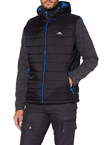 Franklyn Mens Insulated Hooded Gilet - BLACK L