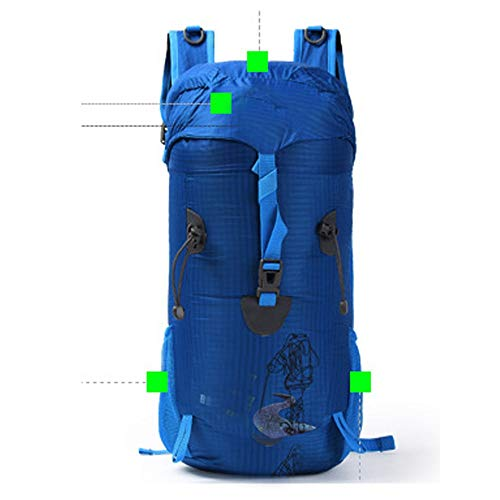 DC Wesley Outdoor Hiking Bag Topping Assault Bag Backpack Backpack For Men And Women Sports Multifunctional Leisure Backpack (Color : Blue)