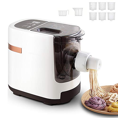 easy pasta doughs fang zhou Smart Dough Machine Compact Pasta and Noodle Maker with 6 Interchangeable Pasta Shape Plates, Fully Automatic Operation, Quick Kneading, for Spaghetti and Fettuccine