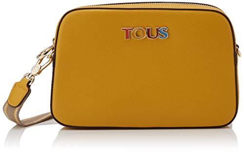 TOUS New Essence, Bolso Bandolera para Mujer, Multicolor (Mostaza Topo 995900790), 23x15x5 cm (W x H x L)
