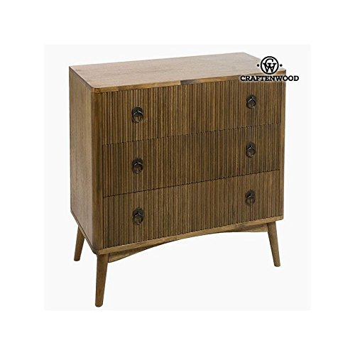 Kommode Teakholz Mdf Braun (82 x 40 x 81,50 cm) - Be Yourself Kollektion by Craftenwood