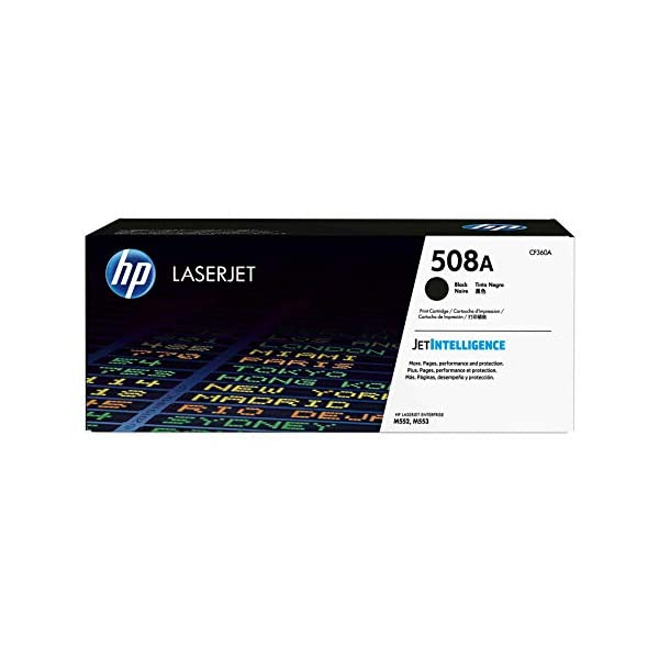 HP 508A (CF360A) Black Original Toner Cartridge for HP Color LaserJet Enterprise...