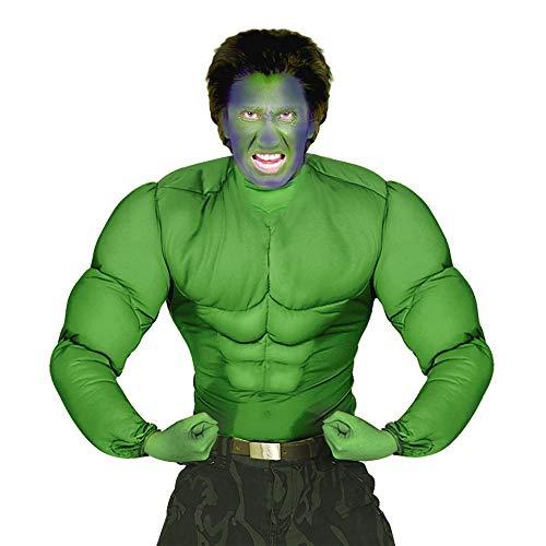 Widmann 11000587 Kinderkostüm grünes Muskelshirt, XL