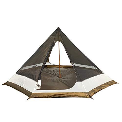 Camping Tienda Ultralige Camping Tepee Pyramid Inside Tienda Mochilero Al Aire Libre Senderismo Senderismo Turista Malla Sin Cabina Toldo (Color : Brown)