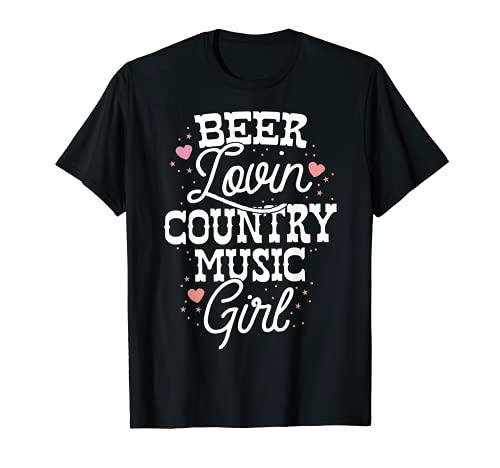 Cerveza Lovin Country Music Festival Chica Fiesta Mujeres Beber Camiseta