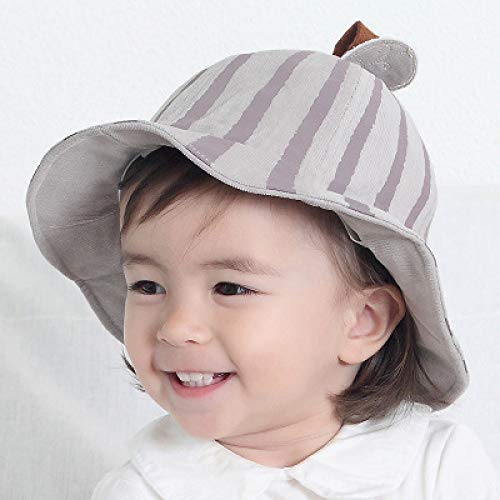 mlpnko Bonnet bébé pour garçons et Filles Chapeau de Soleil Chapeau de pêcheur pour bébé visière marée Enfants Chapeau de Citrouille Code Code Gris Clair