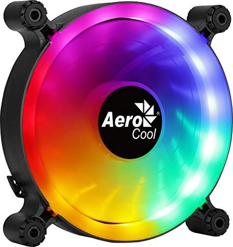 Aerocool SPECTRO12, Ventilador de PC 120mm RGB, Silencioso, Antivibración, Molex