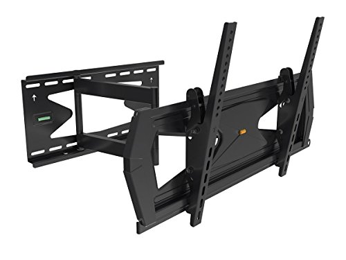 Black Full-Motion Tilt/Swivel Wall Mount Bracket with Anti-Theft Feature for Sharp Aquos Quattron LC-70LE750U 70' inch LED HDTV TV/Television - Articulating/Tilting/Swiveling