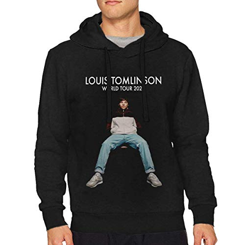 hengtaichang Louis Tomlinson World Tour 2020 Men's Hoodie Sweater Classic Long Sleeve Tops Hooded Sweatshirt