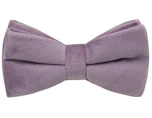 100% Silk Velvet Bowties for Men- Formal Tuxedo Bow Ties-Various Color (Dusty Lavender)