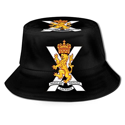 VJSDIUD Royal Regiment of Scotland Bucket Hats Plegable Beach Sun Hats Sombreros de Pescador para Mujeres Hombres