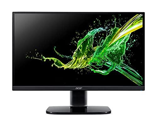 Acer KA242Ybi - Monitor de 23,8  Full HD 75 Hz (60,5 cm, 1920x1080, Pantalla IPS LED, ZeroFrame y FreeSync, 250 nits, Tiempo de Respuesta 1ms, Conector VGA) - Color Negro