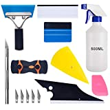 Car Window Tint Application Tools Kit, Luxiv 9 Pcs Vehicle Glass Protective Film Installing Tool Car Window...