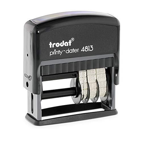 Datumstempel Trodat Printy 4813 custom (26x9 mm - 1 Zeile) mit individueller Textplatte