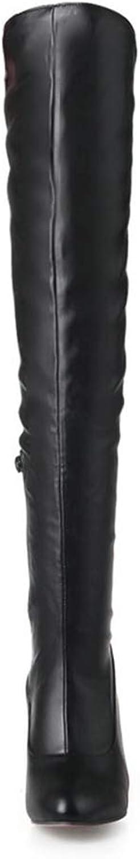 T -JULY -JULY -JULY Woherrar Sexy Thin hög klack Över Knee stövlar Winter Thigh stövlar Mode skor vit Apricot svart  Fri och snabb leverans tillgänglig