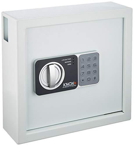 KNOXSAFE KEYLOCKER 1 Schlüsseltresor Schlüsselkasten Tresor für 30 Schlüssel inkl. Schlüsselanhänger, Weiss HxBxT: 28 x 30 x 10 cm 6 kg
