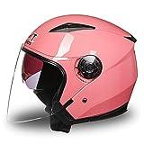 Double Sun Visor Full Face Moto Crash Helmet Pink Motorbike