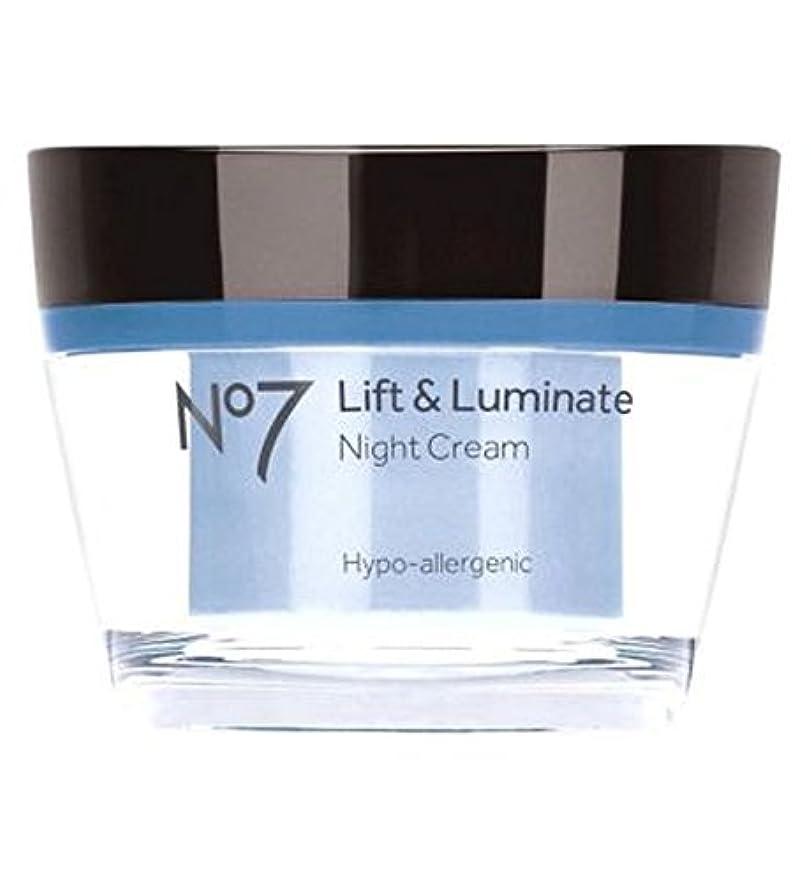 大学アリス左No7リフト&Luminateナイトクリーム (No7) (x2) - No7 Lift & Luminate Night Cream (Pack of 2) [並行輸入品]