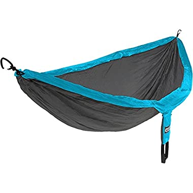 Eagles Nest Outfitters ENO DoubleNest Hammock, Portable Hammock for Two, Teal/Charcoal