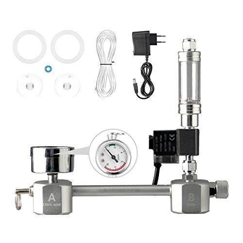 Aquarium CO2 Generator System Kit DIY CO2 System mit Magnetventil Blasenzähler & Kohlendioxidreaktorset für Pflanzen Aquarium